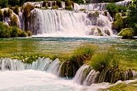 Skradinski Buk _ world famous waterfall on the Krka river, Krka national park, Croatia, summer 2011