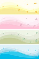 Vector banners of different colours on a theme of seasons. EPS10