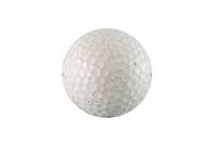Used white Golf Ball isolated on white background