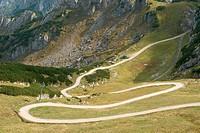 Wandering Hiking Trail through German High Mountain Landscape