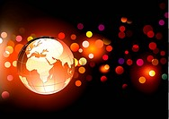 Vector illustration of abstract Background with Glossy Earth Globe