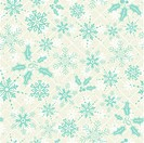 Christmas seamless background with snowflake, mistletoe, element for design, vector illustration