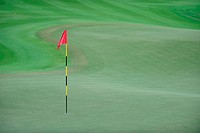Red Flag on golf green