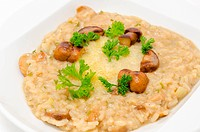 risotto with mushrooms roasted ceps and Parmesan