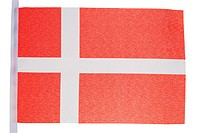 Danish flag against a white background