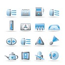 Car Dashboard _ realistic vector icons set