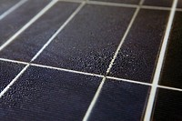 Detail of a weathered solar panel