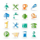 Petrol Station and Travel icons _ Vector Icon Set