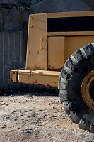 Detail of a heavy equipment vehicle