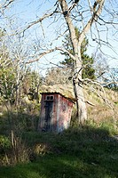 An outhouse on a hill (thumbnail)