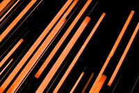 Neon orange rods of glowing light
