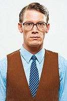 A retro looking man in a vest and shirt and tie (thumbnail)