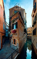 Nice summer venetian canal view Venice, Italy