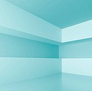 3d Illustration of Blue Abstract Interior Background