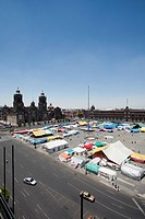 A market at Zocalo, Mexico City, Mexico