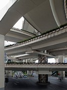 Series of intersecting overpasses, Shanghai, China