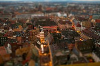 Tilt-shift of an abundance of apartment buildings in a residential district, Strasbourg, France (thumbnail)