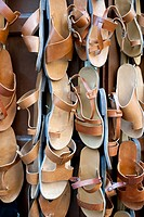 Traditional leather sandals for sale, Rhodes Town, Greece (thumbnail)