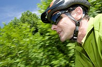 Germany, Bavaria, Mature man with cycling helmet (thumbnail)