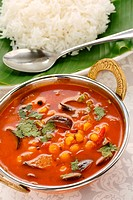 sambar and rice, south indian cuisine