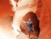 Scene in Antelope canyon