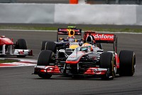 Lewis Hamilton, Mark Webber, Formula One, German Grand Prix, Nurburgring, Germany