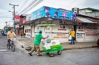 Street, Puerto Limon, Caribbean coast, Costa Rica.