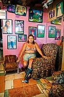 Woman in her house, hosting_hosting_Brasilito beach, Nicoya Peninsula, Costa Rica.