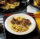 Curry noodles with pork ribs, Thailand, recipe available for a fee