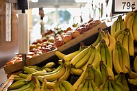 Produce for sale in supermarket