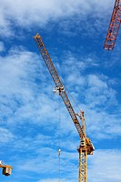 tower crane on the blue sky