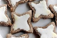 Delicate cinnamon stars, Christmas cookies