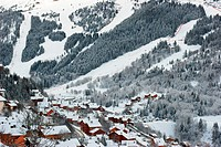 Meribel ski resort after snow storm