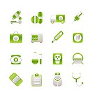 medical, hospital and health care icons _ vector icon set