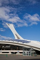 Montreal Biodome building and Olympic Stadium tower, Montreal, Quebec, Canada