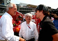Race, Marco Tronchetti Provera ITA, Pirelli´s President, Bernie Ecclestone GBR, President and CEO of Formula One Management and Nicky Hyden, Motor GP