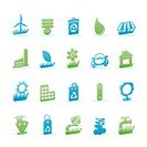 Ecology and nature icons _ vector icon set