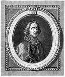 Historical print from the 19th century, portrait of François de Salignac de La Mothe-Fénelon, 1651 - 1715, a French archbishop and writer