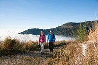Couple hiking in the Black Forest, Baden_Wuerttemberg, Germany, Europe