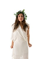 Greek Goddess.Greek Goddess On white Background