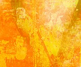 Grunge Yellow Art Abtract Background with Text Space