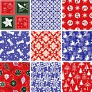 Set of Christmas Repeating Patterns