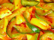 close up of indian achar