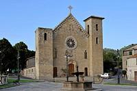 Romanesque-Gothic church at Rocca Monaldeschi della Cervara, Bolsena, Lazio, Italy, Europe