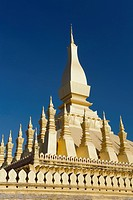 Pha That Luang stupa, temple, landmark, Vientiane, Laos, Indochina, Asia