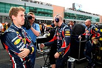 Race, Sebastian Vettel GER, Red Bull Racing, RB7, F1, Korean Grand Prix, Yeongam, Korean.