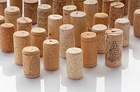Different bottles used wine corks