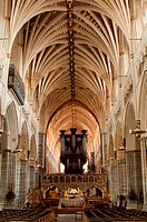 Photo of exeter cathedral ceiling