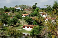 Houses in Las Terrazas, a village cooperative in the nature reserve of the Sierra del Rosario mountain range, Pinar del Rio province, Cuba, Greater An...