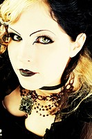 Woman with a serious face, Gothic, portrait